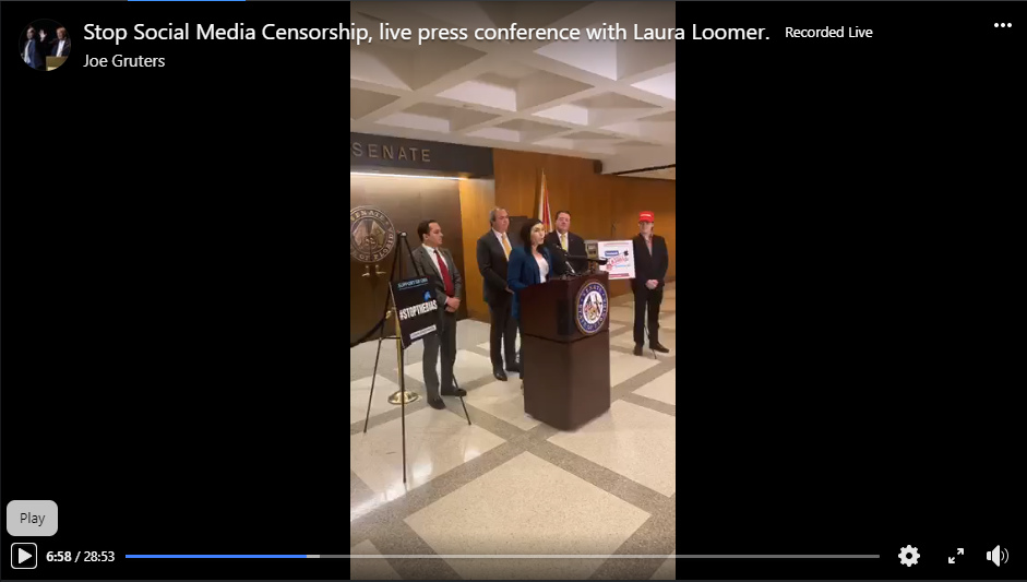 Special Forces of Liberty - Stop Social Media Censorship Act - Press Conference - Screenshot